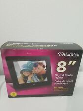 Aluratek ADPF08SF 8 inch LCD Digital Photo Frame - Black w box