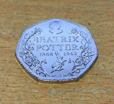 Beatrix Potter 150th Anniversary 50p Fifty Pence coin 2016 - Free Postage