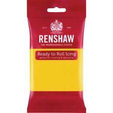 Renshaw Ready To Roll Icing Fondant Cake Regalice Sugarpaste 250g YELLOW