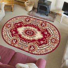 Teppich Orientteppich Perser mit Ornament Orientalisch Krolewski Rot Creme Oval