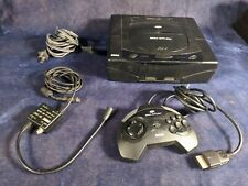 SEGA Saturn Black Console - Tested Working, All Cords, 1 Controller