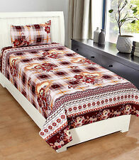 Homefab India 3D Printed PolyCotton Single Bed-Sheet (Single191)