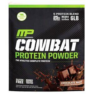 Musclepharm Combat Protein Powder Chocolate Milk Flavors 6 Lbs ( Exp Jan-2024 )