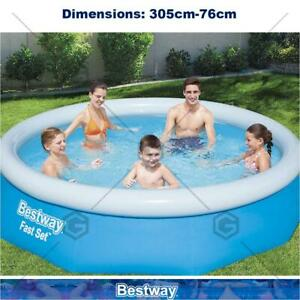 Bestway 10ft Inflatable Pool with Pump & Filter Set Above Ground Pool Easy Set