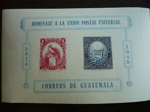 Stamps - Guatemala - Scott# 338 - Souvenir Sheet - Imperf