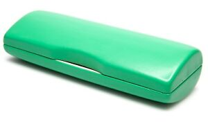 NEW Hard Case for Eyeglasses Glasses Green w/ Cleaning Cloth 160x60x38mm C21