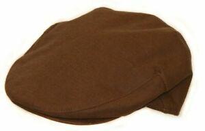 Brand New Men's Dark Brown Linen Vintage Style Golf Summer Newsboy Flat Cap