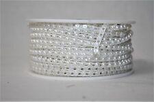 1 Roll of Half Pearl White Trim 4mm x 25m Wedding Bridal Craft