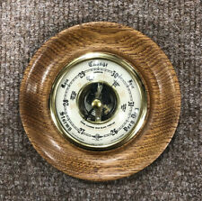 Vintage Shortland Barometer, 14cm Diameter, Mounted In Solid Wood, Free Postage!