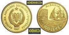 More details for 100 leke 1987 albanian gold coin kalaja e durresit kosova shqipni monedha ari