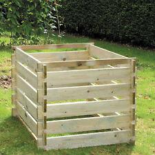 Outdoor Garden FSC Timber Compost Bin Slatted Pressure Treated- 448 Litres