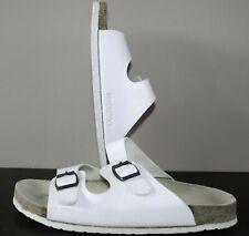 Birkenstock Monk Strap Buckle Foam Sandals - 44 UK Size 9.5 - White Leather Mens
