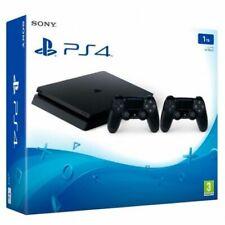 Sony PlayStation 4 Slim Pack de Consola de 1TB con 2 DualShock Mandos