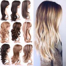 Fashion Women Long Curly Straight Wavy Full Hair Wigs Black Brown Blonde Wig AE1