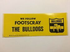 RARE  1979 FOOTSCRAY BULLDOGS VINTAGE STICKER VFL AFL GREAT CONDITION