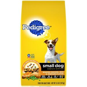 Pedigree Small Dog Dry Food Roasted Chicken, Rice & Vegetable Flavor 3.5 lbs