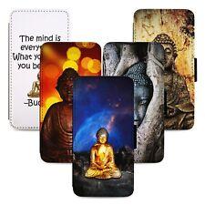 Buddha Spiritual Design Flip Phone Case Cover Wallet - Fits Iphone 5 6 7 8 X 11