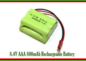 8.4V Ni-MH 800mAh AAA 7Cell Battery Pack part JST Plug for RC Toy Car Boat Truck