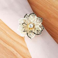 12Pcs Rhinestone Napkin Rings Handmade Serviette Buckle Holder Wedding Dinner