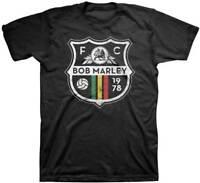 Zion Rootswear Bob Marley Soccer Crest Reggae Rasta Ska Music T Shirt ZRBM0318