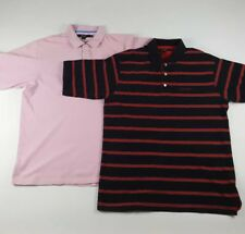 X2 Mens Sean John Polos Size 2XL Cotton Short Sleeve Pink Black Red   214 215