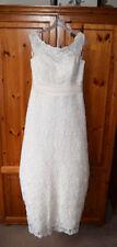 Beading Boat Neck A-line Sleeveless Wedding Dresses
