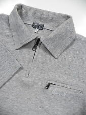 GIANNI VERSACE V2 MENS XL VINTAGE RARE 1/2 ZIP POLO SHIRT STYLISH GREY LOGO LUXE