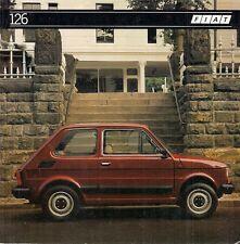 Fiat 126 652cc Saloon 1983-85 UK Market Foldout Sales Brochure
