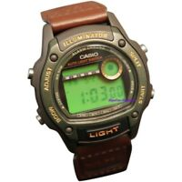 Casio Men's Sport 50m Black Resin Brown Nylon Watch W94HF-3AV