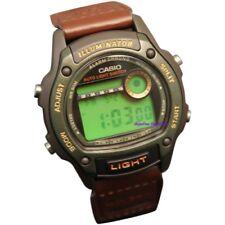Casio Para Hombre Deportivos 50 M Negro Reloj De Nylon Marrón De Resina W94HF-3AV