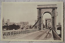 "CPA "" AVIGNON - Pont suspendu Inauguré en 1809"