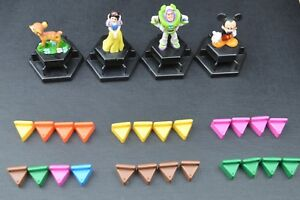 Trivial Pursuit Disney 2005 Replacement Player Tokens & Wedges - NOT THE GAME.