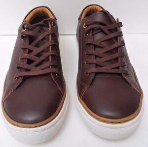 Mens Farah Brown Leather Lace Up Shoes - Size UK 6 EUR 40