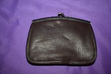 Vintage FOSSIL brown leather coin purse wallet