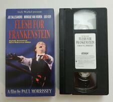ANDY WARHOL PRESENTS FLESH FOR FRANKENSTEIN (1973) VHS 1998