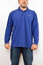 MCS Marlboro Classics Mens Casual Shirt Long Sleeved Polo BLUE XXL 100% COTTON