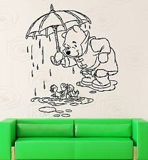 Wall Stickers Vinyl Decal Kids Room Winnie The Pooh Cartoon Baby Decor (ig1054)