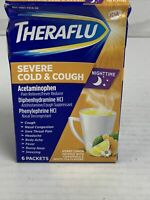 Theraflu Nighttime Severe Cold & Cough Honey Lemon Infused, 6 count Exp 05/2022