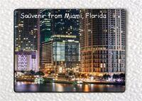 SOUVENIR FROM MIAMI, FLORIDA FRIDGE MAGNET -psu7Z