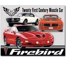 """Pontiac Firebird Metal Tin Sign Trans Am WS6 16"""" X 12"""" Garage Man Cave Decor"""
