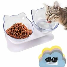 Pets Feeders Cat Bowl Double Kitten Bowl Stand Drink Bottle Dog  Bowl Drinking