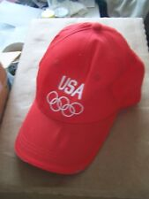 red Olympic Team USA adjustable cap