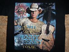 Kenny Chesney Country 2011 Goin' Coastal Tour Dates Blk Graphic Print T Shirt M