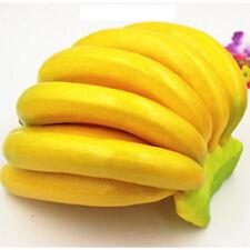 Lifelike Artifical Imitation Banana Fake Plastic Fruit Mould Props Home Decor