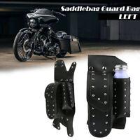 Left Saddlebag Guard Bag Water Bottle Holder Fit Harley Road King Electra Glide