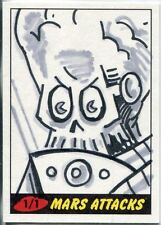 Mars Attacks Heritage Sketch Card By Mark Pingatore