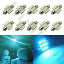 10x Ice Blue LED Festoon Interior Map Dome Lights Bulbs 31mm DE3175 DE3022 3021