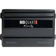MB Quart FA1-1500.1 1500 Watts Max 1 Ohm Stable FORMULA Series Car Audio Ampl...