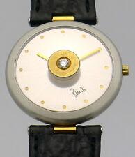 Bunz Design Damen Edelstahl Quartz Armbanduhr mit Brillant