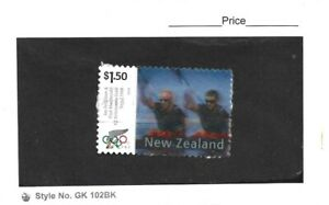 New Zealand 2004 Olympics $1.50 Ferguson & McDonald Single on Piece Fine Used